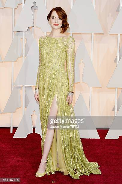 Emma Stone attends the 87th Annual Academy Awards at Hollywood Highland Center on February 22 2015 in Hollywood California