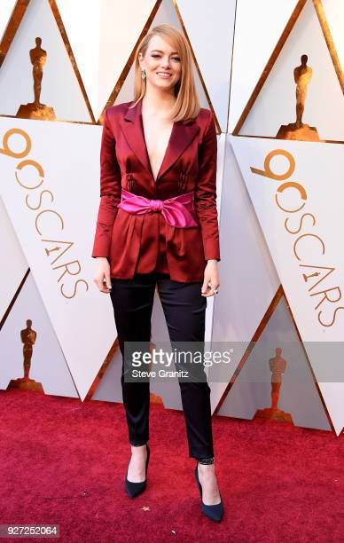 Emma Stone attends the 90th Annual Academy Awards at Hollywood Highland Center on March 4 2018 in Hollywood California