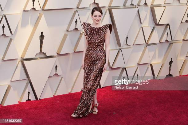 Emma Stone attends the 91st Annual Academy Awards Arrivals at Hollywood and Highland on February 24 2019 in Hollywood California