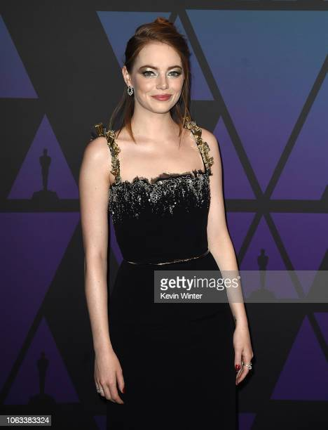 Emma Stone attends the Academy of Motion Picture Arts and Sciences' 10th annual Governors Awards at The Ray Dolby Ballroom at Hollywood Highland...