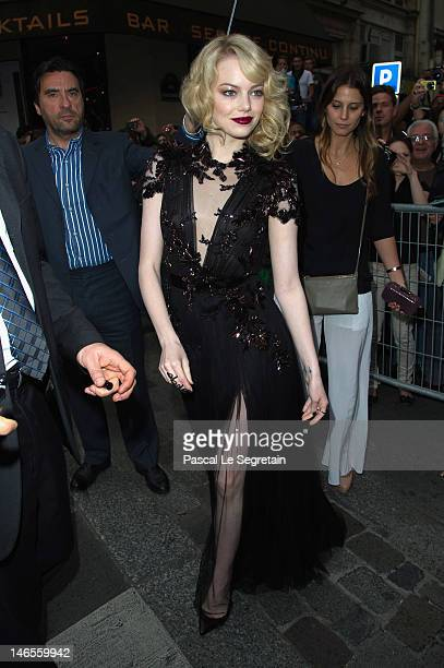 Emma Stone attends 'The Amazing SpiderMan' Paris Film premiere at Le Grand Rex on June 19 2012 in Paris France