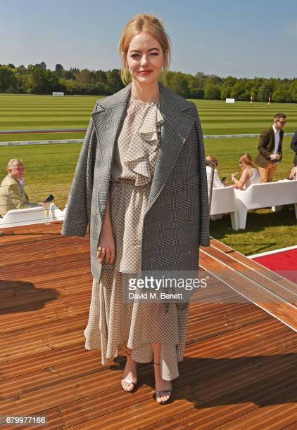 Emma Stone attends the Audi Polo Challenge at Coworth Park on May 7 2017 in Ascot United Kingdom