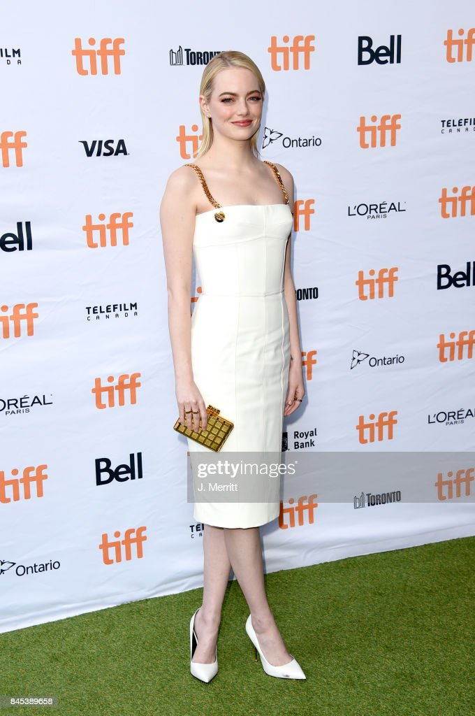 Emma Stone attends the 'Battle of the Sexes' premiere during the 2017 Toronto International Film Festival at Ryerson Theatre on September 10, 2017 in Toronto, Canada.