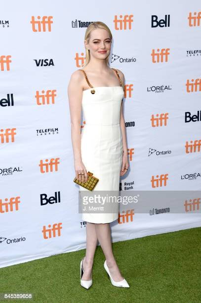 Emma Stone attends the 'Battle of the Sexes' premiere during the 2017 Toronto International Film Festival at Ryerson Theatre on September 10 2017 in...