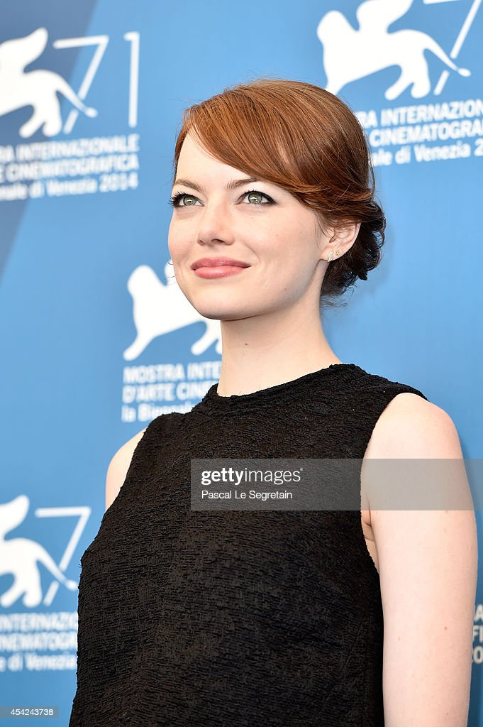 Emma Stone attends the 'Birdman' photocall during the 71st Venice Film Festival on August 27, 2014 in Venice, Italy.
