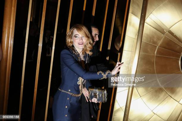 Emma Stone attends the Boom Boom Afterparty for the Met Gala at the Top of the Standard on May 8 2018 in New York New York