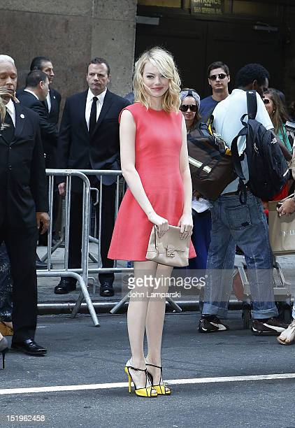 Emma Stone attends the Calvin Klein Collection show during Spring 2013 MercedesBenz Fashion Week at on September 13 2012 in New York City