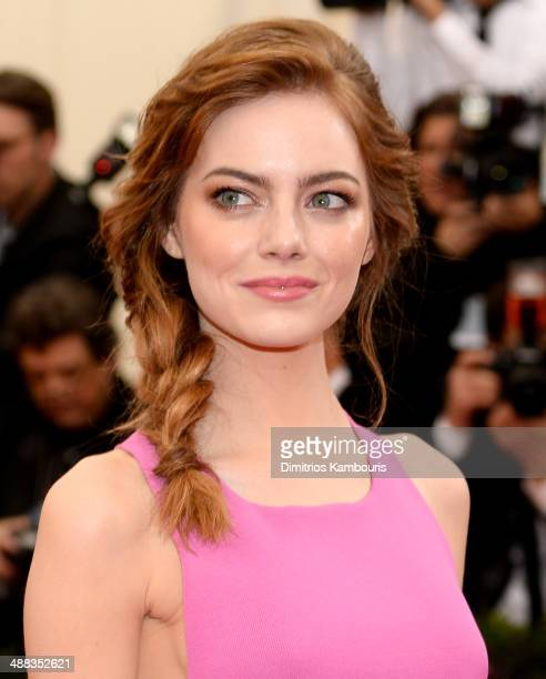 """Emma Stone attends the """"Charles James: Beyond Fashion"""" Costume Institute Gala at the Metropolitan Museum of Art on May 5, 2014 in New York City."""