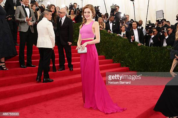 Emma Stone attends the Charles James Beyond Fashion Costume Institute Gala at the Metropolitan Museum of Art on May 5 2014 in New York City