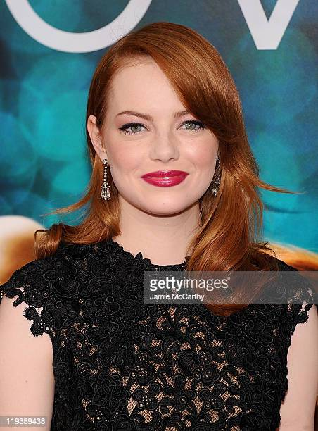 Emma Stone attends the Crazy Stupid Love World Premiere at the Ziegfeld Theater on July 19 2011 in New York City