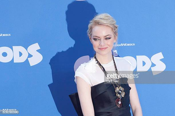 Emma Stone attends The Croods film premiere at the AMC Loews Lincoln Square in New York City �� LAN