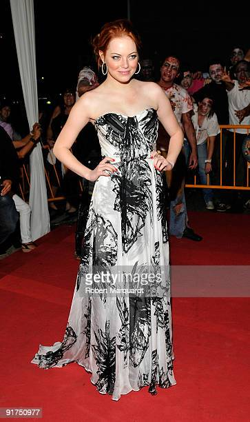 Emma Stone attends the European Premiere for 'Zombieland' at the 42nd Sitges Film Festival on October 10 2009 in Barcelona Spain