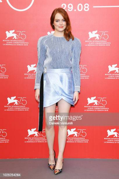 Emma Stone attends 'The Favourite' photocall during the 75th Venice Film Festival at Sala Casino on August 30 2018 in Venice Italy
