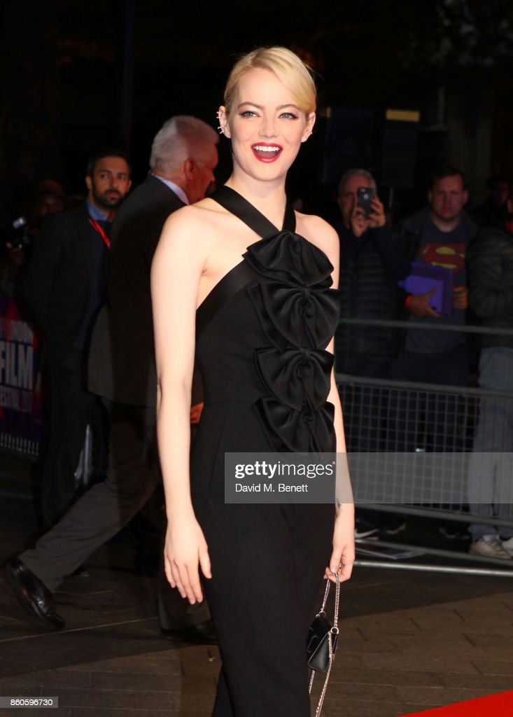 Emma Stone attends the Headline Gala Screening & UK Premiere of 'Killing of a Sacred Deer' during the 61st BFI London Film Festival on October 12, 2017 in London, England.