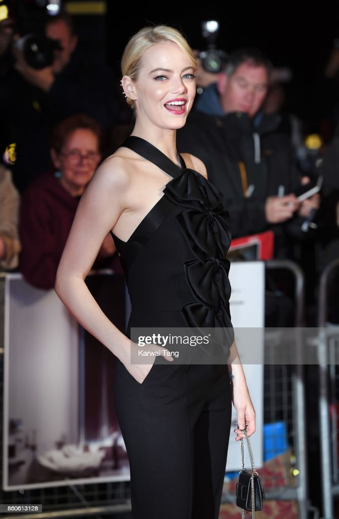 Emma Stone attends the Headline Gala Screening & UK Premiere of 'Killing of a Sacred Deer' during the 61st BFI London Film Festival at the Odeon Leicester Square on October 12, 2017 in London, England.