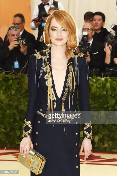 Emma Stone attends the Heavenly Bodies Fashion The Catholic Imagination Costume Institute Gala at The Metropolitan Museum of Art on May 7 2018 in New...