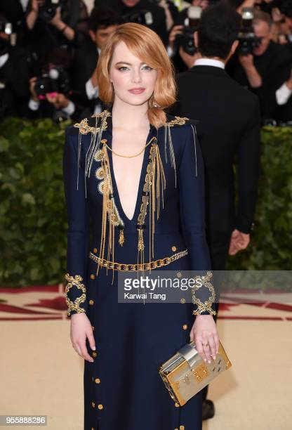 Emma Stone attends the Heavenly Bodies Fashion The Catholic Imagination Costume Institute Gala at Metropolitan Museum of Art on May 7 2018 in New...