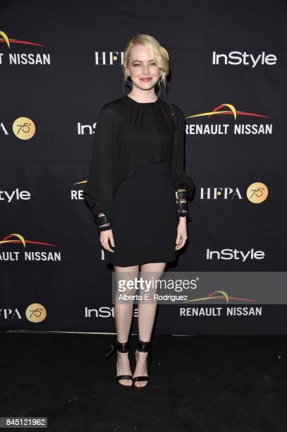 Emma Stone attends the HFPA InStyle annual celebration of 2017 Toronto International Film Festival at Windsor Arms Hotel on September 9 2017 in...