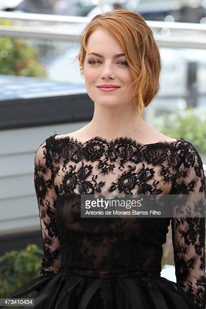 """Emma Stone attends the """"Irrational Man"""" photocall during the 68th annual Cannes Film Festival on May 15, 2015 in Cannes, France."""