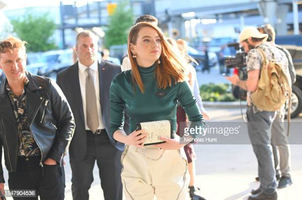 Emma Stone attends the Louis Vuitton Cruise 2020 Fashion Show at JFK Airport on May 08, 2019 in New York City.