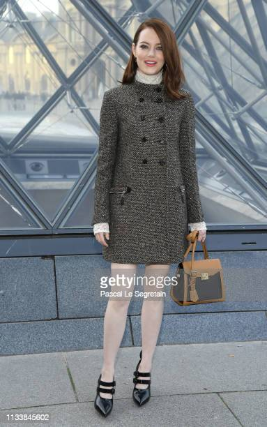 Emma Stone attends the Louis Vuitton show as part of the Paris Fashion Week Womenswear Fall/Winter 2019/2020 on March 05 2019 in Paris France