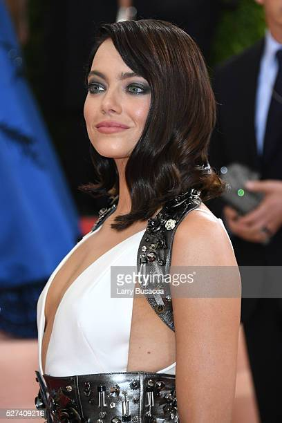 Emma Stone attends the Manus x Machina Fashion In An Age Of Technology Costume Institute Gala at Metropolitan Museum of Art on May 2 2016 in New York...