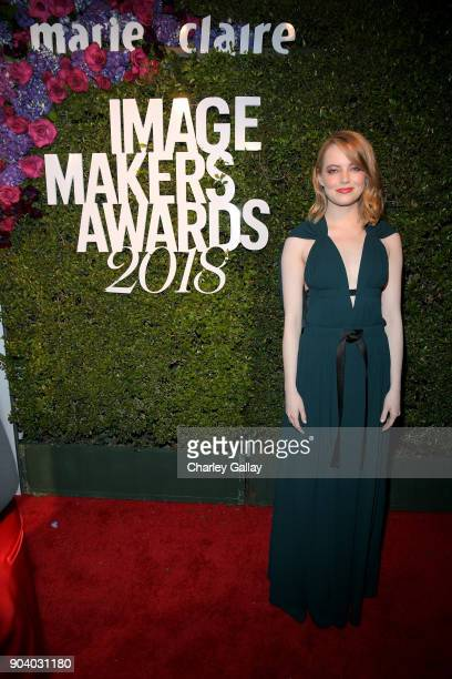 Emma Stone attends the Marie Claire's Image Makers Awards 2018 on January 11 2018 in West Hollywood California