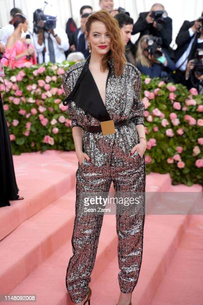 Emma Stone attends The Metropolitan Museum Of Art's 2019 Costume Institute Benefit Camp Notes On Fashion at Metropolitan Museum of Art on May 6 2019...