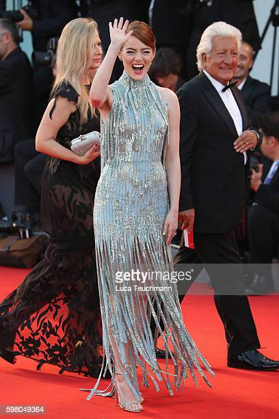 Emma Stone attends the opening ceremony and premiere of 'La La Land' during the 73rd Venice Film Festival at Sala Grande on August 31, 2016 in...