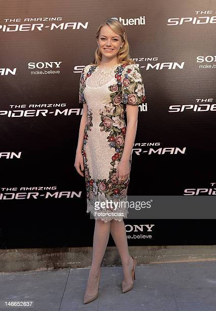 Emma Stone attends the premiere of 'The Amazing SpiderMan' at Callao Cinema on June 21 2012 in Madrid Spain