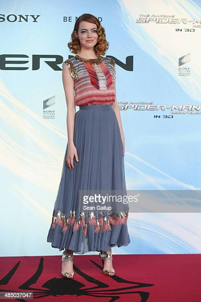 Emma Stone attends the 'The Amazing SpiderMan 2 Rise Of Electro' Berlin Premiere at Hotel Adlon on April 15 2014 in Berlin Germany
