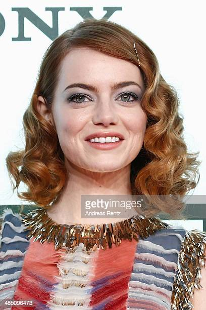 Emma Stone attends the 'The Amazing SpiderMan 2 Rise Of Electro' Berlin Premiere at CineStar on April 15 2014 in Berlin Germany