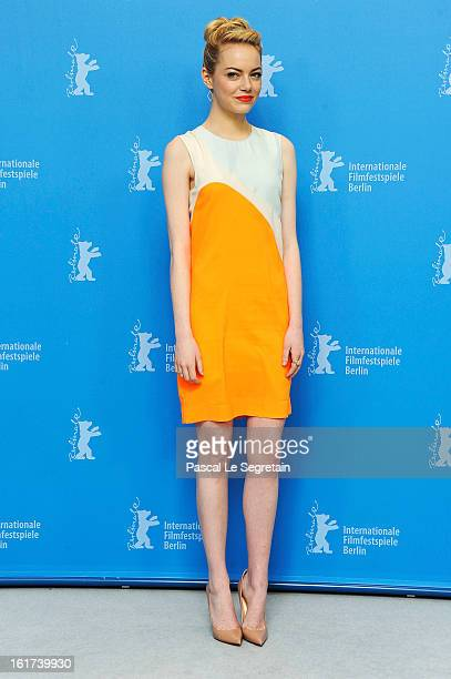 Emma Stone attends the 'The Croods' Photocall during the 63rd Berlinale International Film Festival at the Grand Hyatt Hotel on February 15 2013 in...