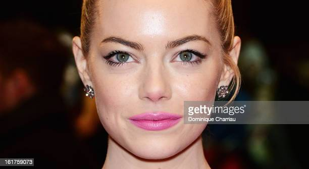 Emma Stone attends the 'The Croods' Premiere during the 63rd Berlinale International Film Festival at Berlinale Palast on February 15 2013 in Berlin...