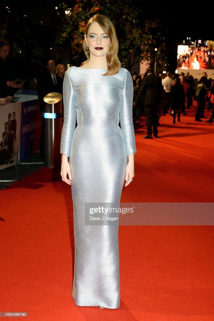 """The Favourite"" UK Premiere & American Express Gala - VIP Arrivals - 62nd BFI London Film Festival : News Photo"