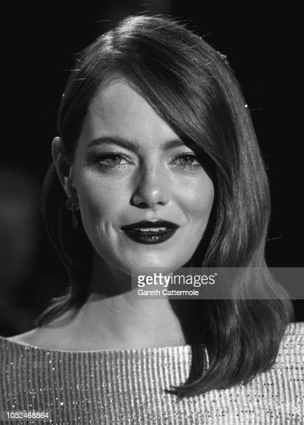 Emma Stone attends the UK Premiere of 'The Favourite' American Express Gala at the 62nd BFI London Film Festival on October 18 2018 in London England