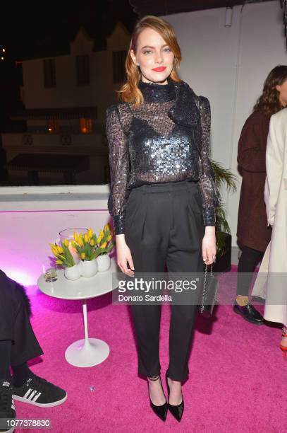 Emma Stone attends W Magazine Celebrates Its 'Best Performances' Portfolio and the Golden Globes with Audi and Giorgio Armani Beauty at Chateau...