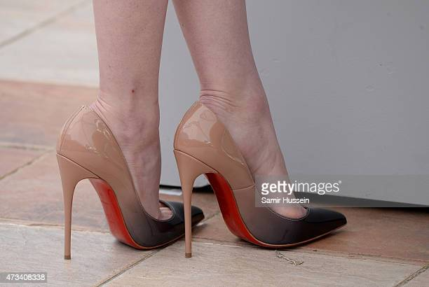 Emma Stone detail attends a photocall for 'Irrational Man' during the 68th annual Cannes Film Festival on May 15 2015 in Cannes France