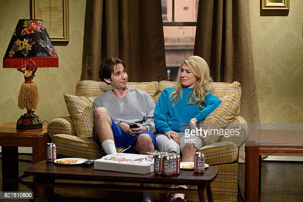 LIVE 'Emma Stone' Episode 1712 Pictured Kyle Mooney and Melissa Villaseñor during the 'Classroom Cold Open' sketch on December 3 2016