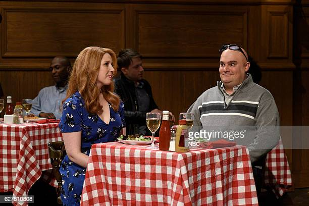 LIVE 'Emma Stone' Episode 1712 Pictured Vanessa Bayer and Bobby Moynihan during the 'Classroom Cold Open' sketch on December 3 2016