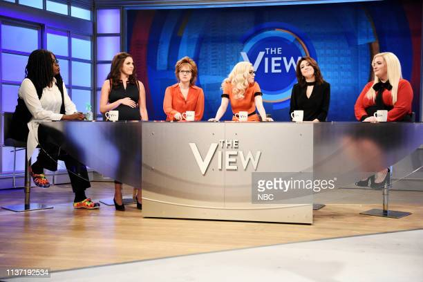LIVE 'Emma Stone' Episode 1764 Pictured Leslie Jones as Whoopi Goldberg Cecily Strong as Abby Huntsman Kate McKinnon as Joy Behar host Emma Stone as...