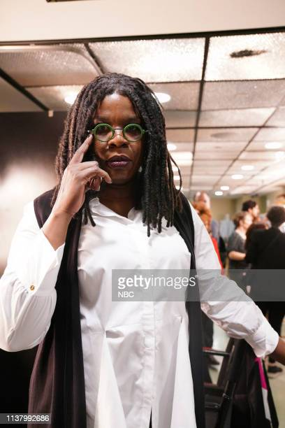 LIVE 'Emma Stone' Episode 1764 Pictured Leslie Jones as Whoopi Goldberg backstage in Studio 8H on Saturday April 13 2019