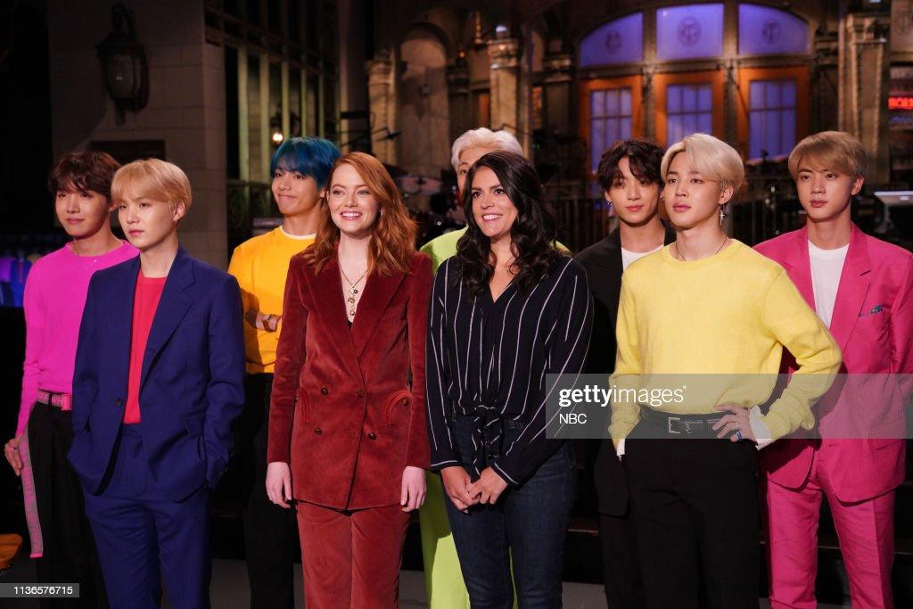 """NY: NBC'S """"Saturday Night Live"""" - Emma Stone, BTS"""