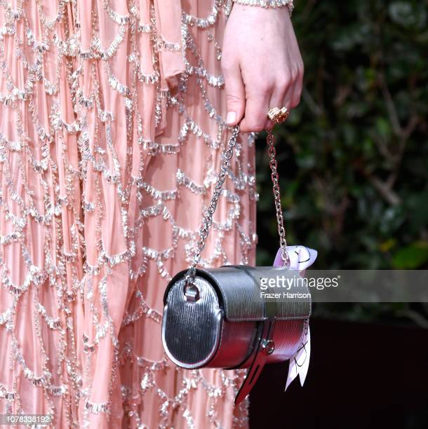 Emma Stone fashion detail attends the 76th Annual Golden Globe Awards at The Beverly Hilton Hotel on January 6 2019 in Beverly Hills California