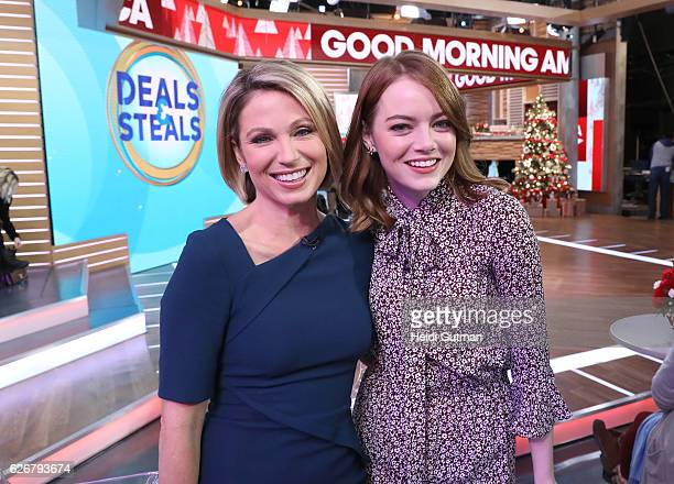AMERICA Emma Stone is a guest on 'Good Morning America' 11/28/16 airing on the ABC Television Network AMY