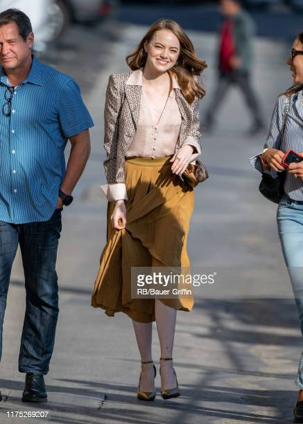 Emma Stone is seen at 'Jimmy Kimmel Live' on October 10 2019 in Los Angeles California