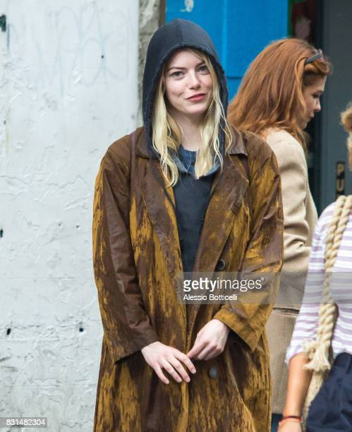 Emma Stone is seen filming 'Maniac' for Netflix on August 14 2017 in New York City