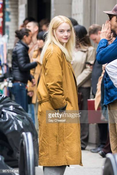 Emma Stone is seen filming 'Maniac' on May 10 2018 in New York New York