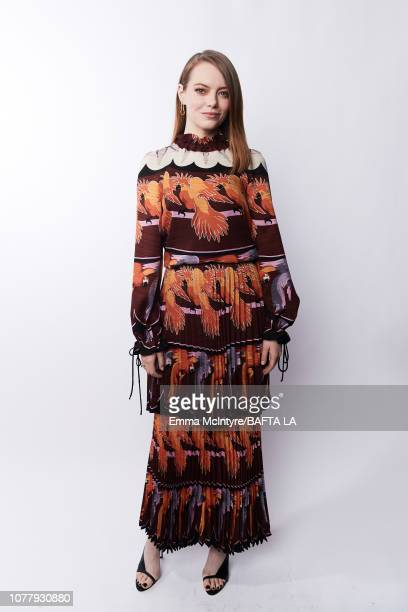 Emma Stone poses for a portrait at The BAFTA Tea Party on January 5 2019 in Beverly Hills California