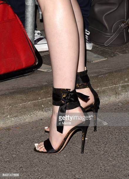 Emma Stone shoe detail attends The Hollywood Foreign Press Association and InStyle's annual celebrations of the 2017 Toronto International Film...